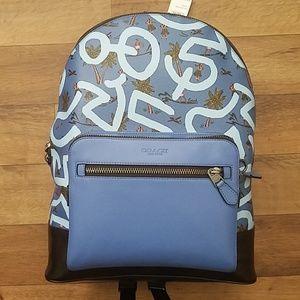 Coach Keith Haring West Backpack Blue Hula Print